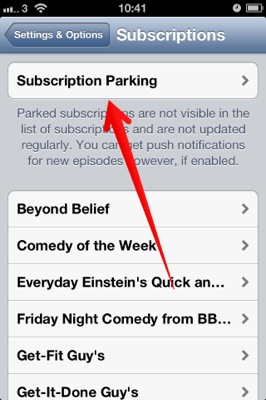 parked subscriptions
